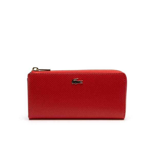 Lacoste Women's Chantaco Piqué Leather 8 Card Zip Wallet