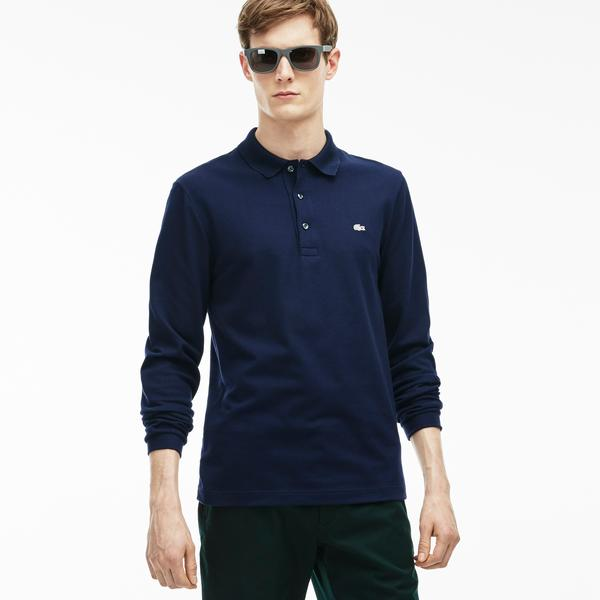 Lacoste Men's Slim Fit Stretch Mini Piqué Polo Shirt