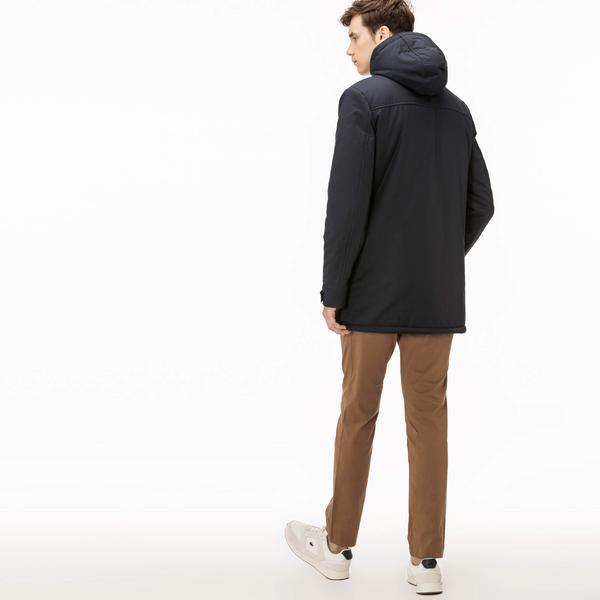 Lacoste Men's Short Brushed Cotton Jacket With Pockets