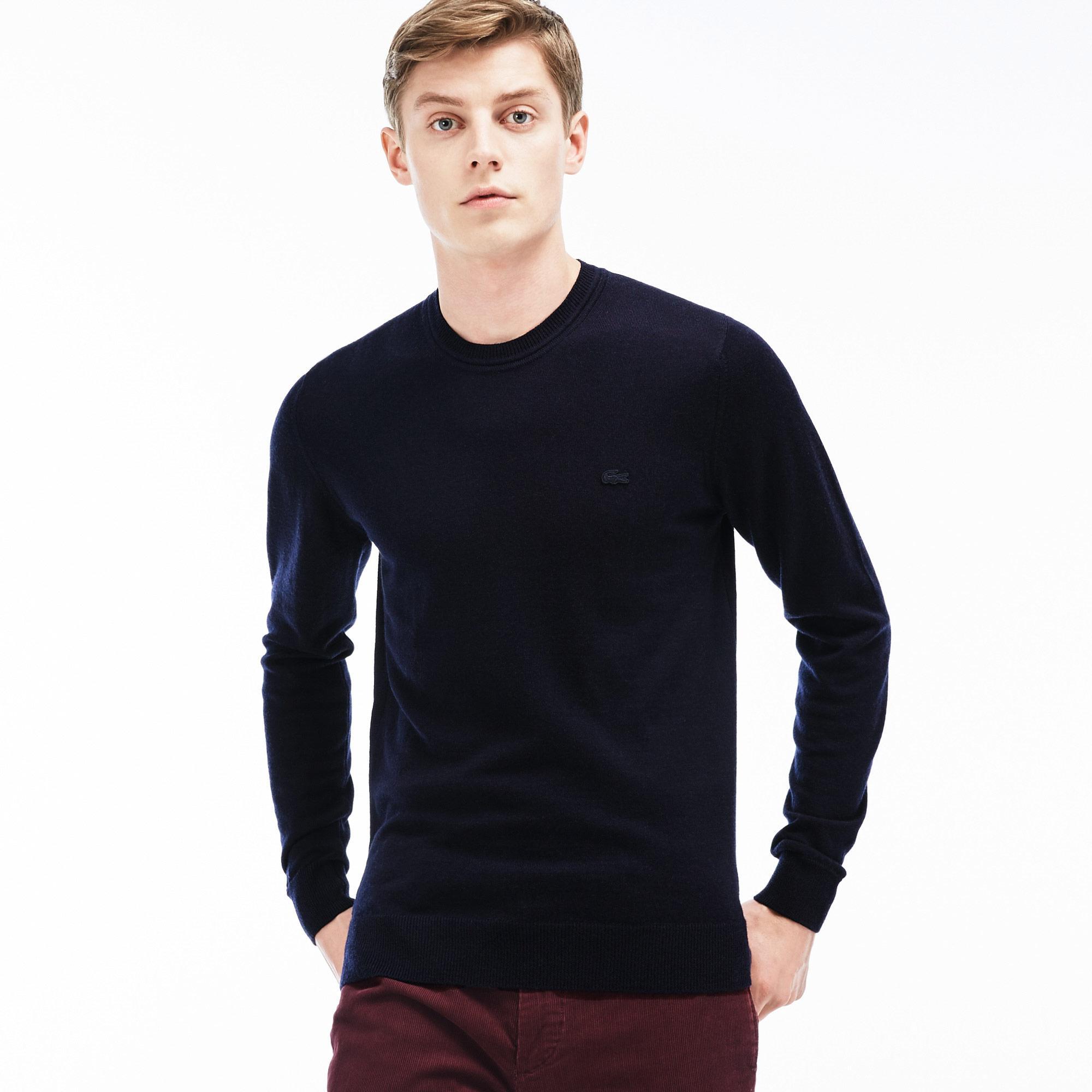 Lacoste светр чоловічий з круглим вирізом