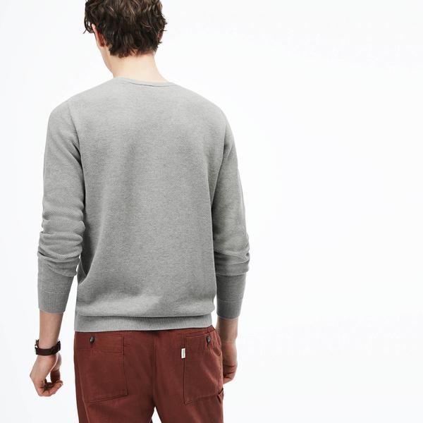 Lacoste Men's V-Neck Cotton Piqué Sweater