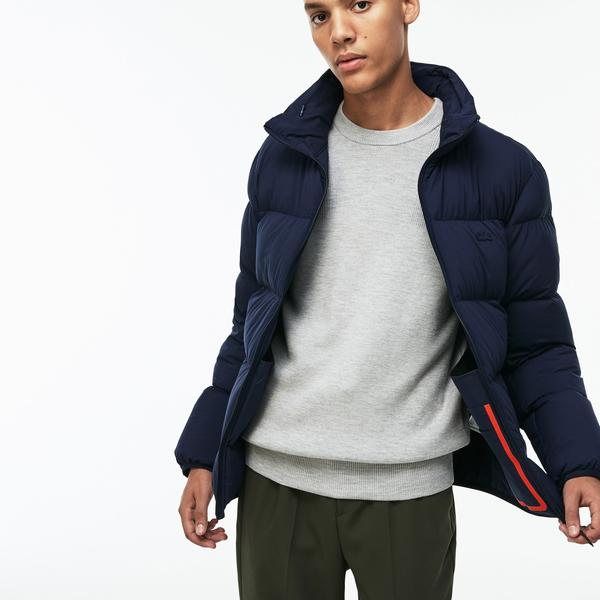 Lacoste Men's Motion Concealed Hood Quilted Jacket
