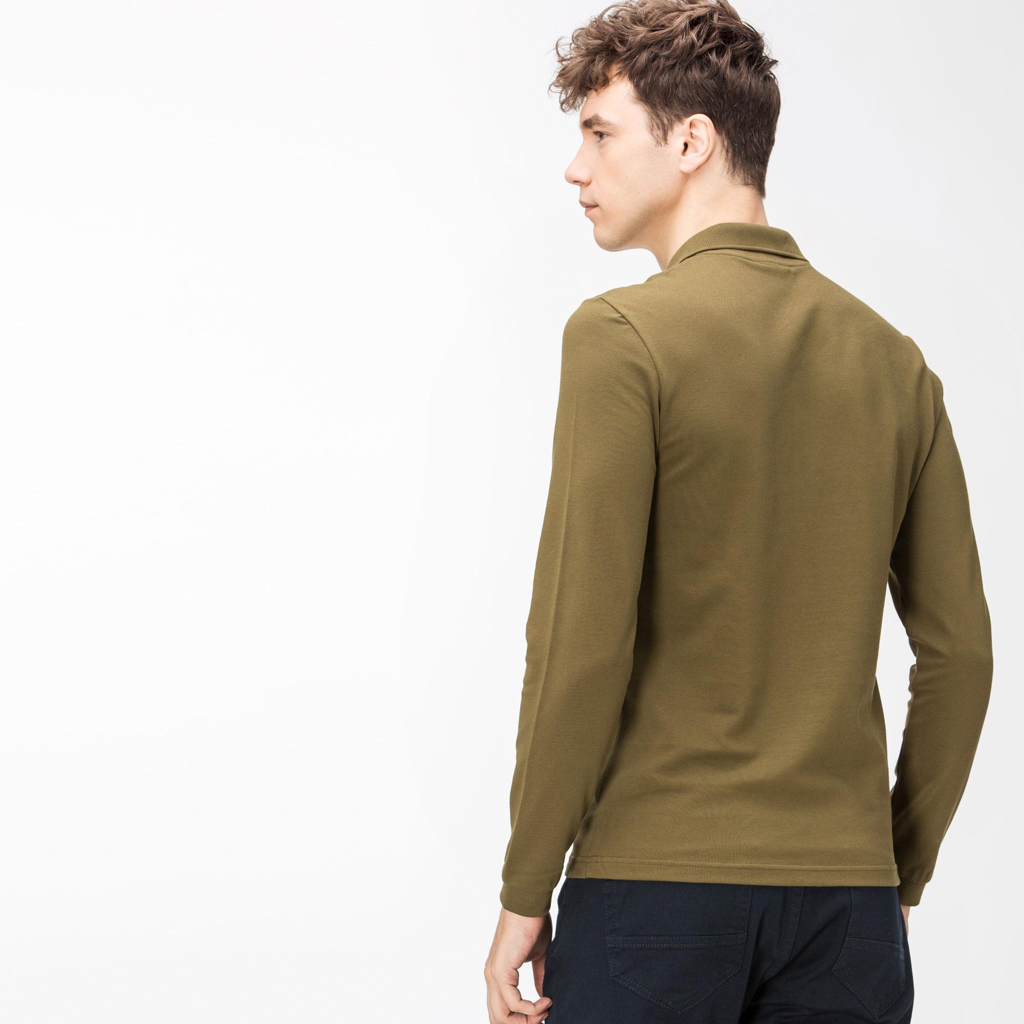 Lacoste Men's Slim Fit Stretch Mini Piqué Polo Shirt