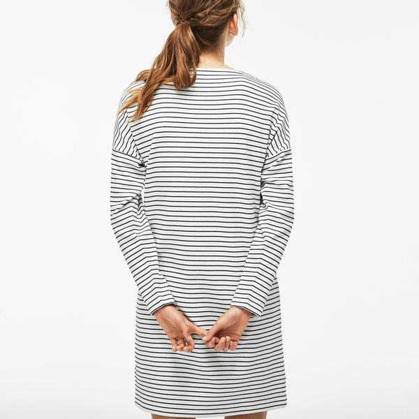 Lacoste Women's Boat Neck Striped Dress