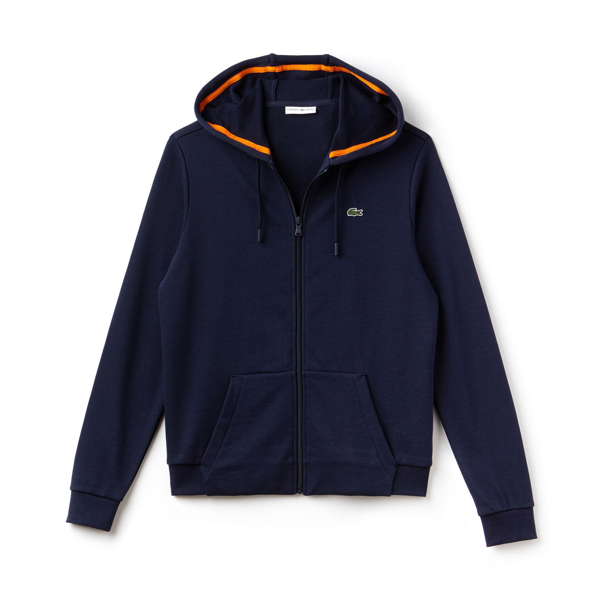 Lacoste Sport Women's Tennis Hooded Zippered Fleece Sweatshirt