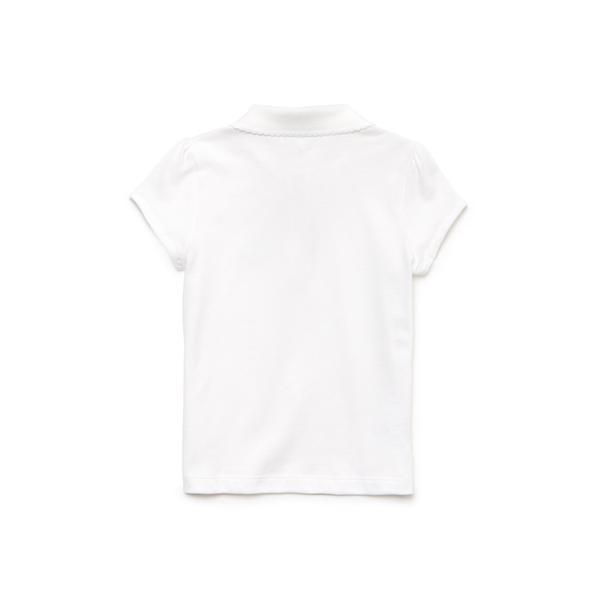 Lacoste Girls' Scalloped Collar Mini Piqué Polo