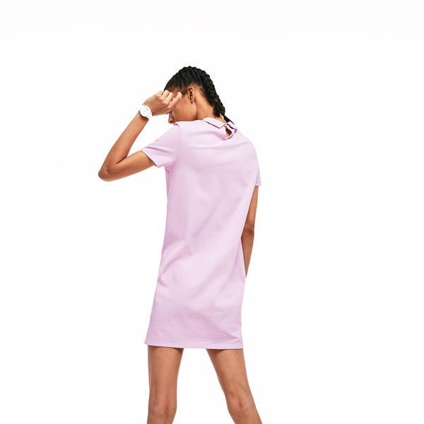 Lacoste Women's Slim Fit Pink Dress