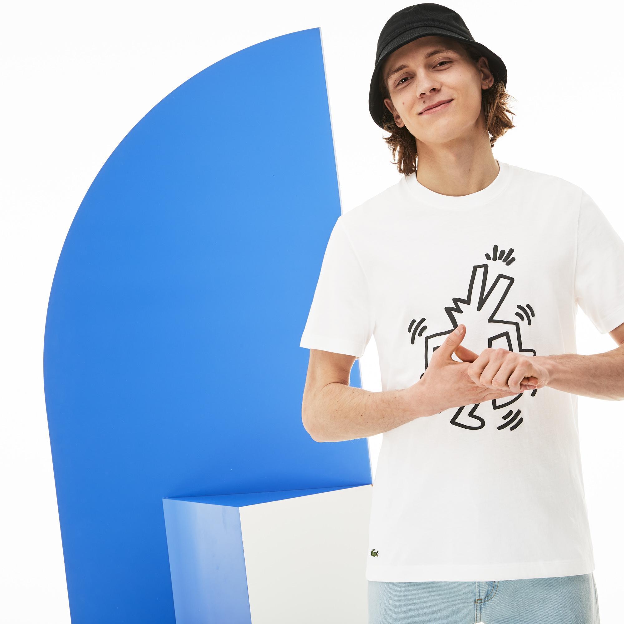 Lacoste футболка чоловіча x Keith Haring з круглим вирізом