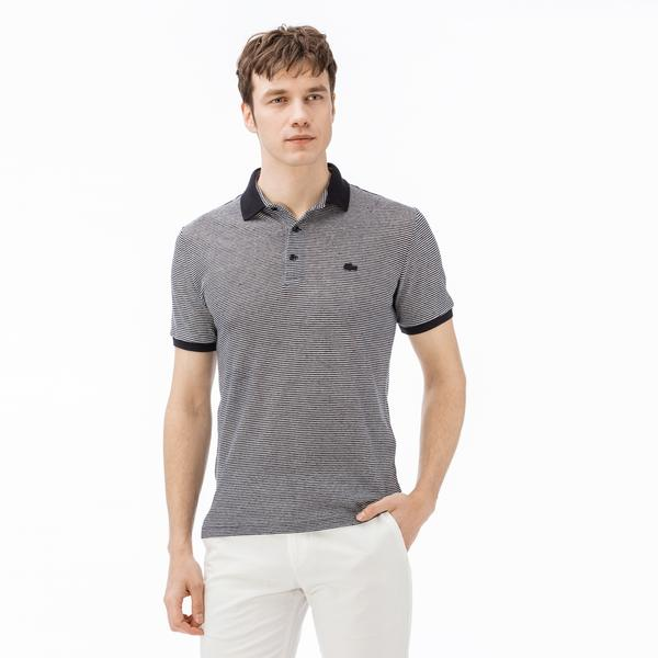 Lacoste Men's Slim Fit Striped Polo