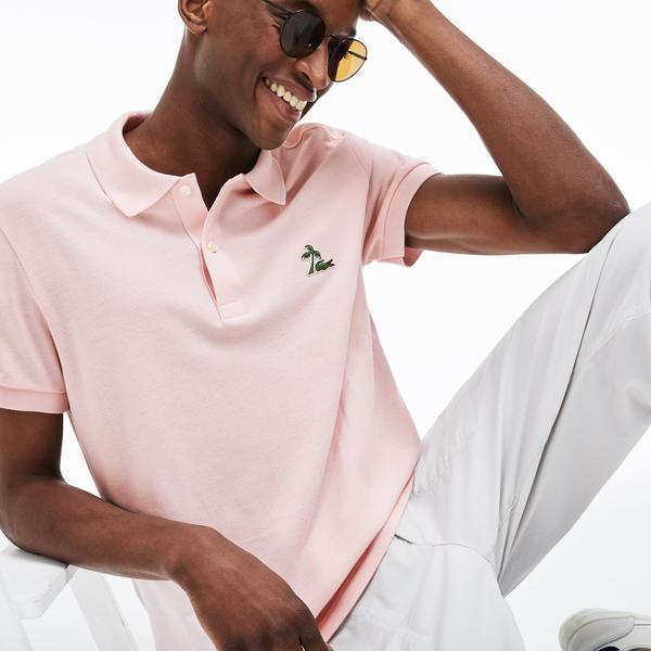 Lacoste Men's Regular Fit Palm Tree Croc Cotton Petit Piqué Polo