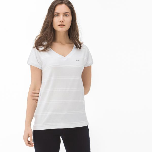 Lacoste Women's V Neck T-Shirt