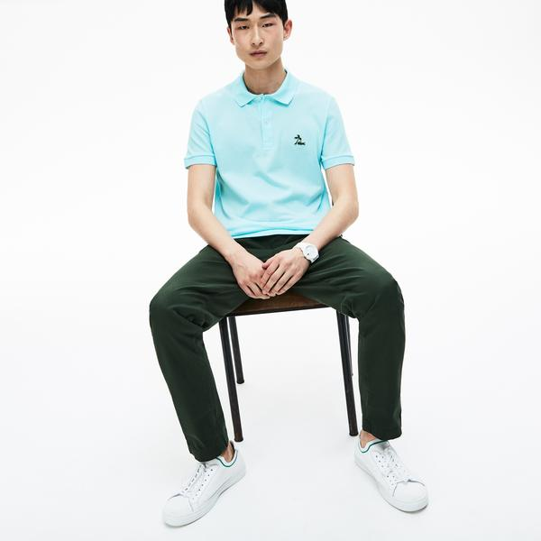 Lacoste Men's Regular Fit Palm Tree Croc Cotton Petit Piqué Polo