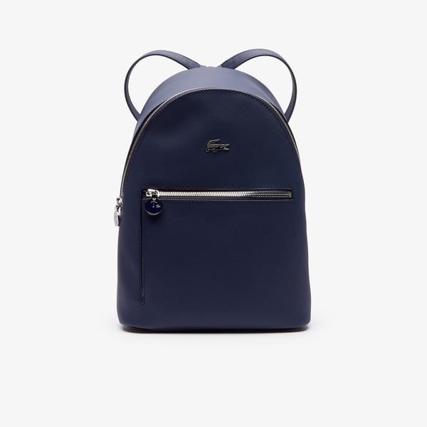 Lacoste Women's Daily Classic Coated Piqué Canvas Backpack