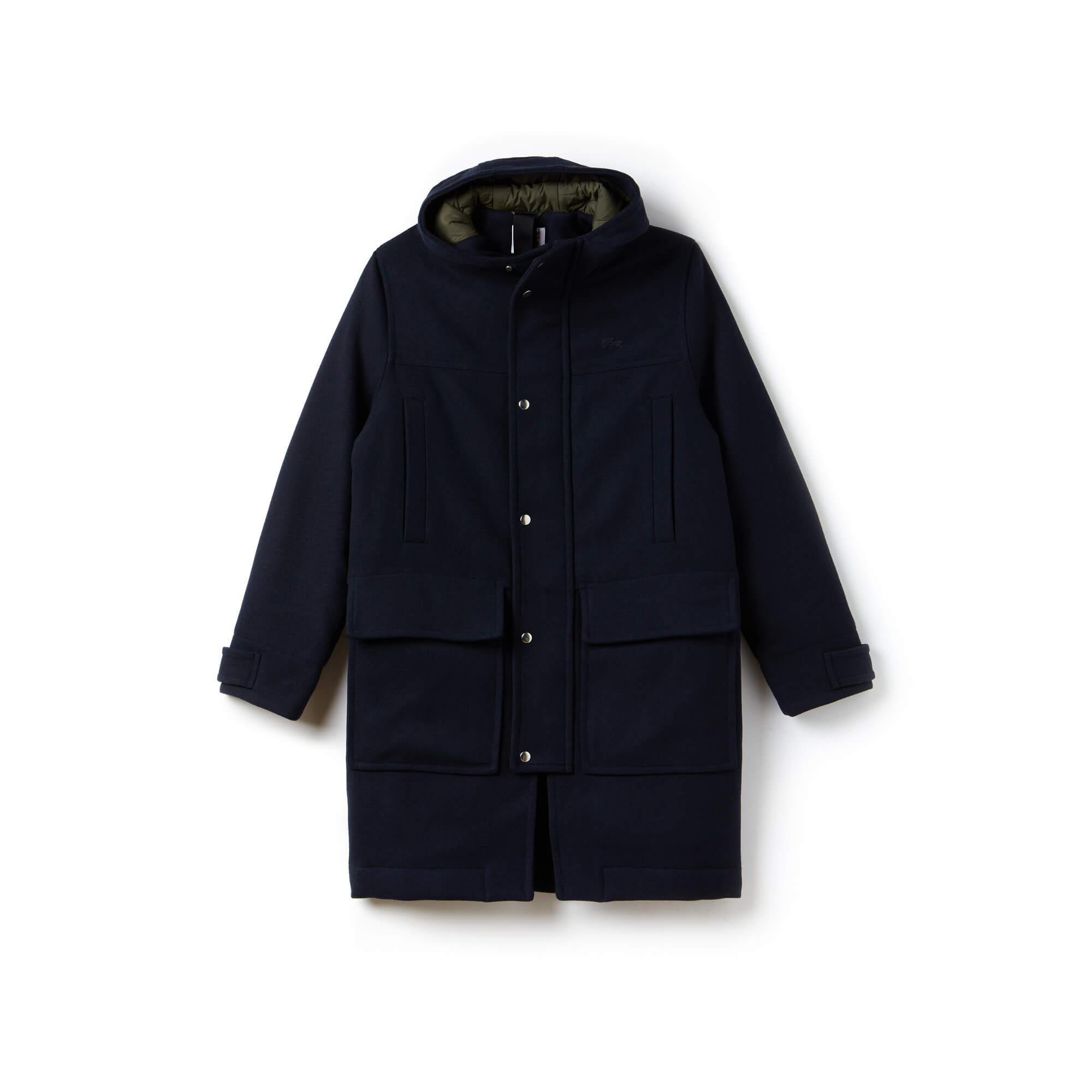 Lacoste L!VE Men's Wool Broadcloth Duffel Coat