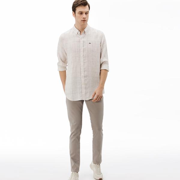 Lacoste Men's Slim Fit 5-Pocket Stretch Cotton Pantss