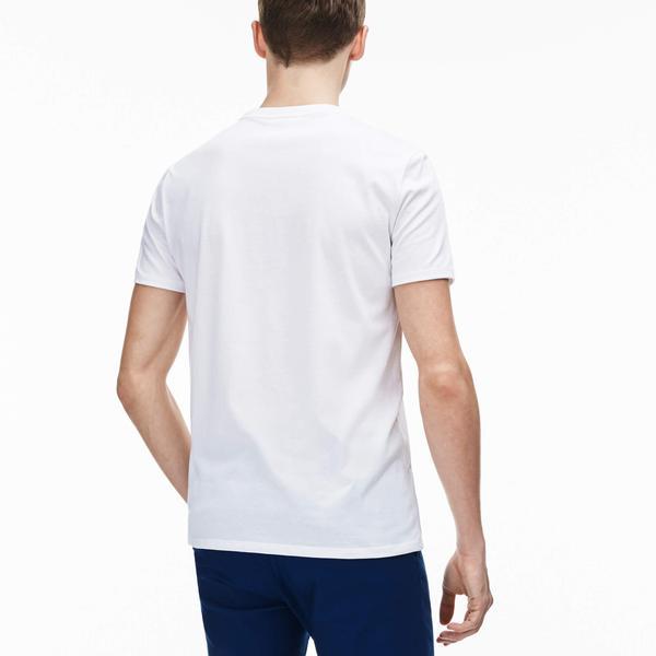 Lacoste Men's V-Neck Pima Cotton Jersey T-Shirt