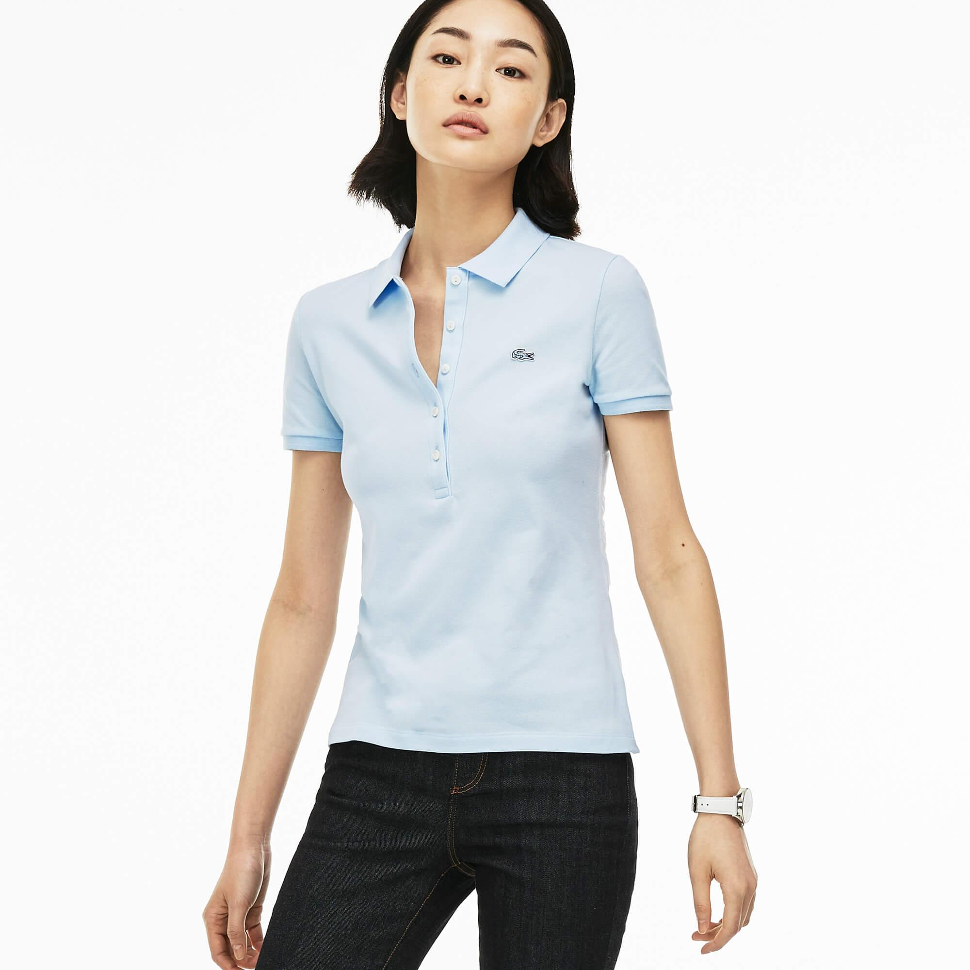 Lacoste Women's Slim Fit Stretch Mini Cotton Piqué Polo Shirt