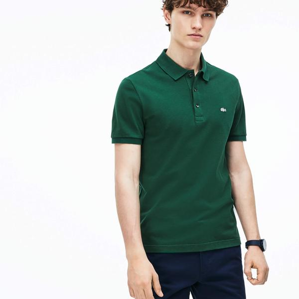Lacoste Men's Slim Fit Polo in Stretch Petit Piqué