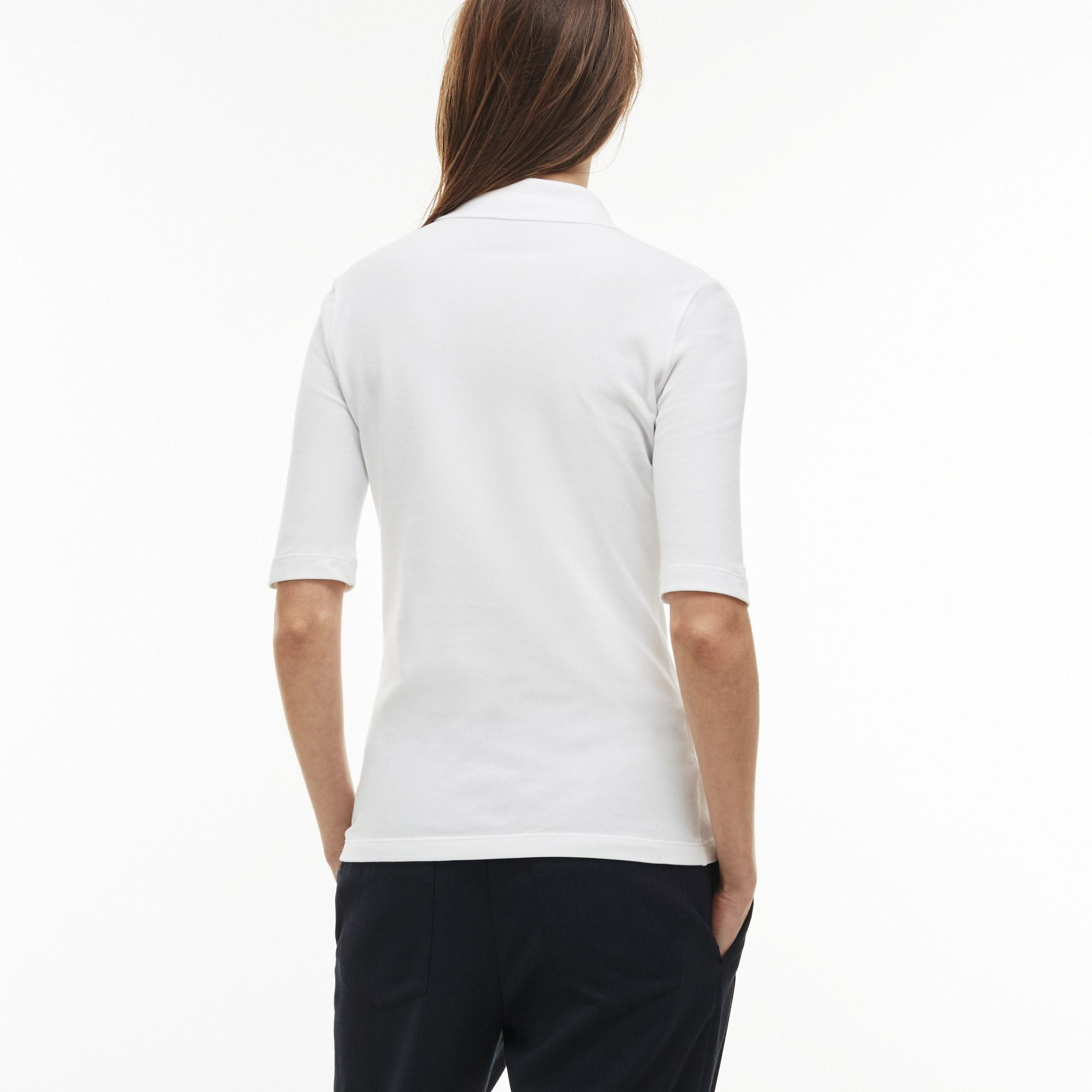 Lacoste Women's Slim Fit Stretch Mini Piqué Polo Shirt