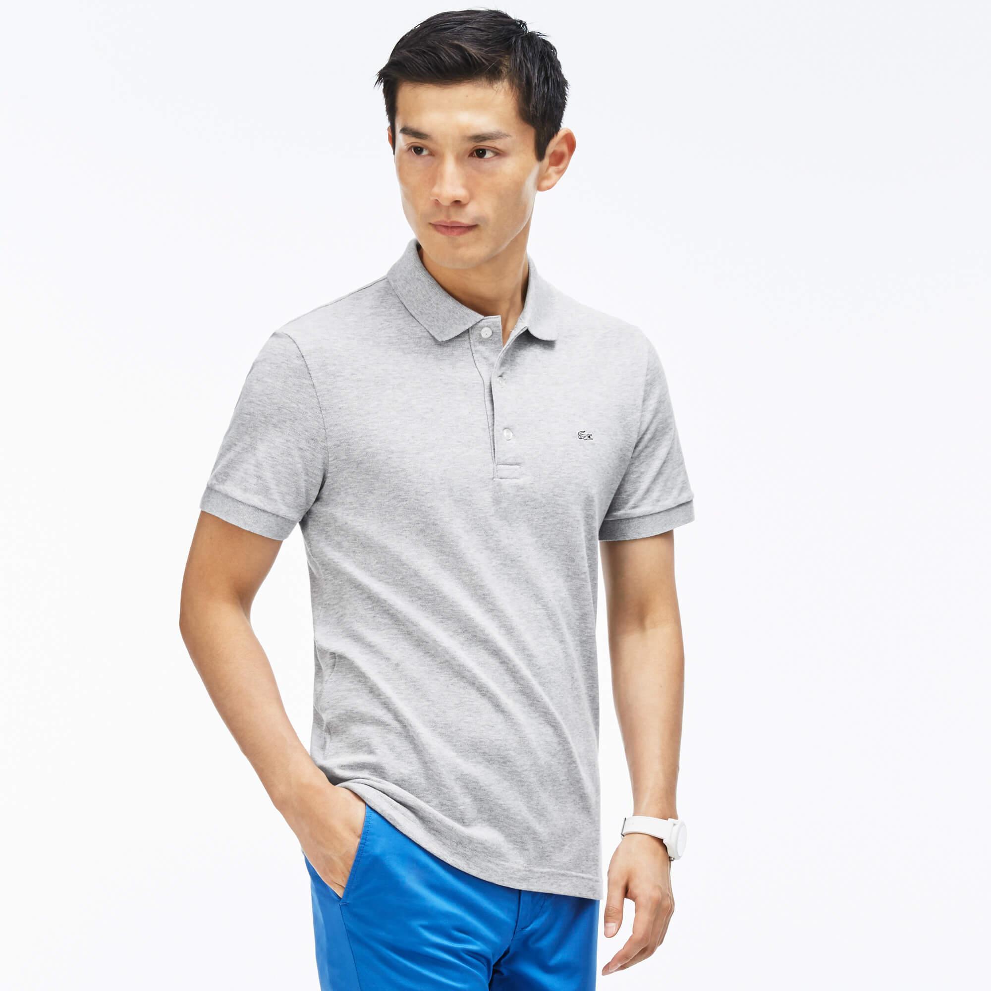 Lacoste Men's Slim Fit Lacoste Polo Shirt in Stretch Petit Piqué