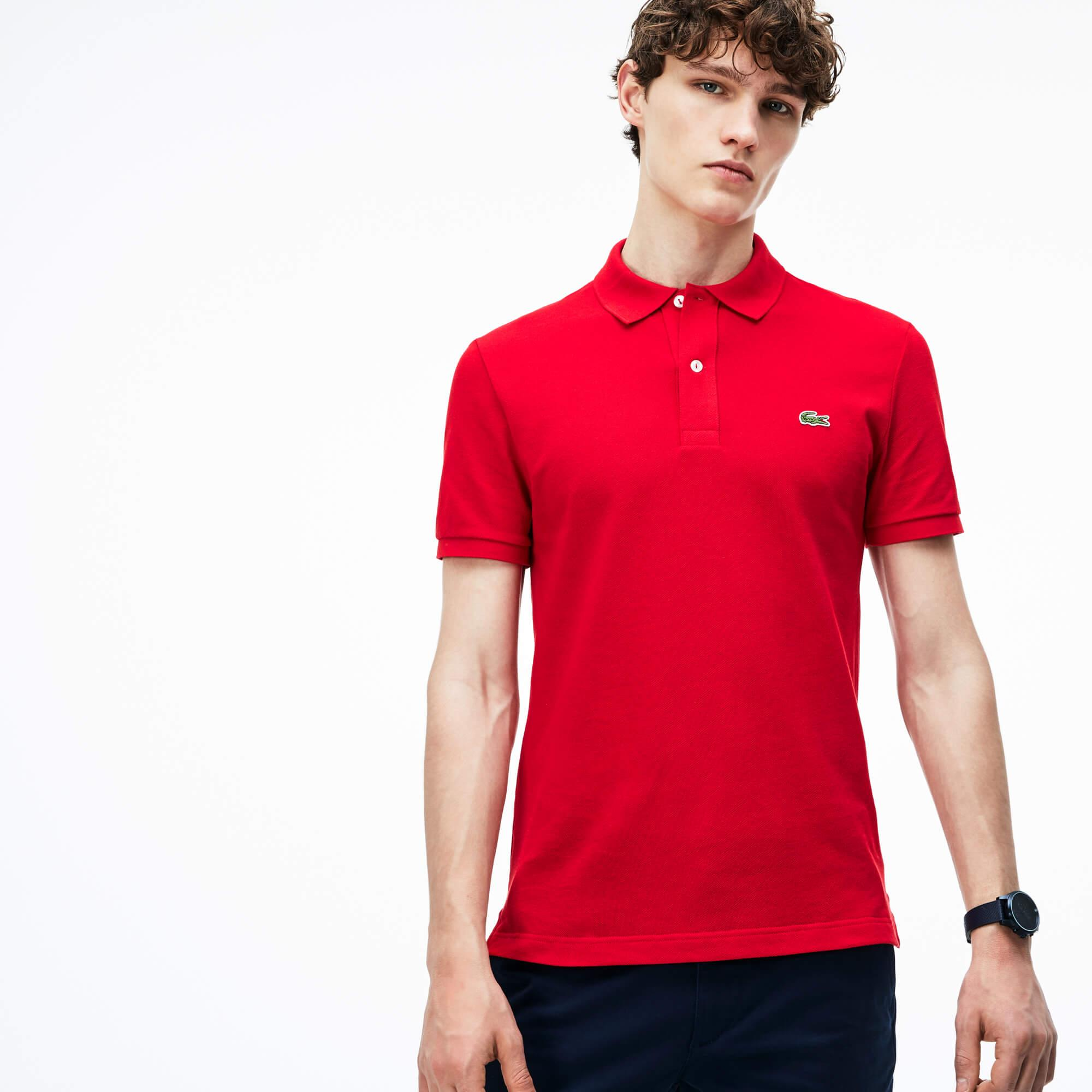 Lacoste Men's Slim Fit Polo In Petit Piqué