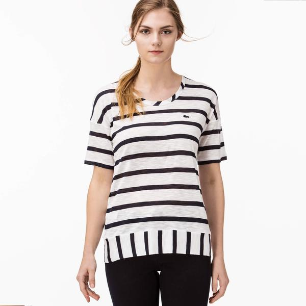Lacoste Women's Striped T-Shirt