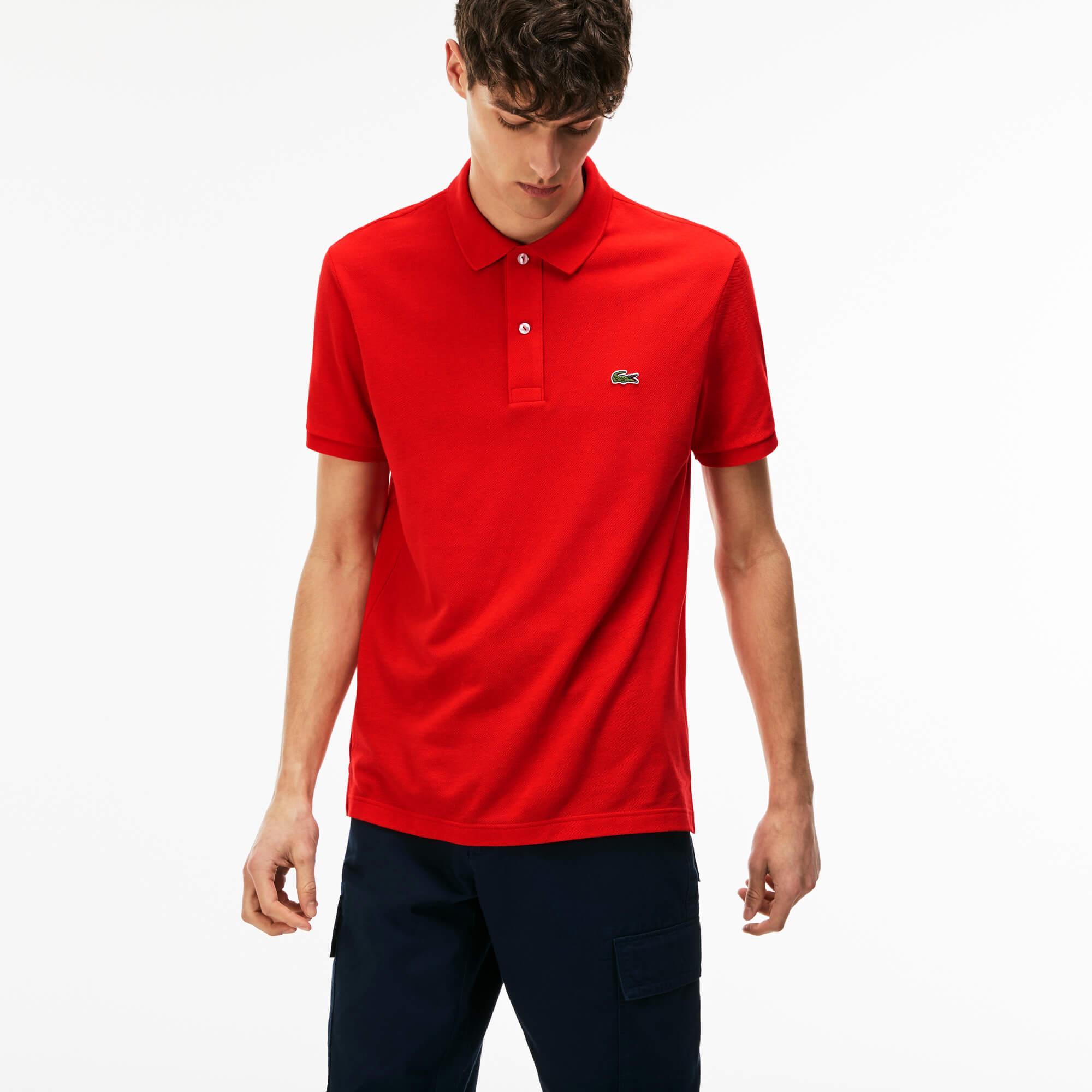 Lacoste Men's Slim Fit Polo In Petit Piqué
