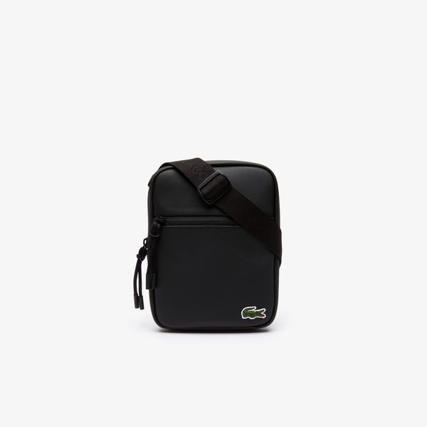 Lacoste Men's L.12.12 Concept Coated Petit Piqué Canvas Small Zip Bag