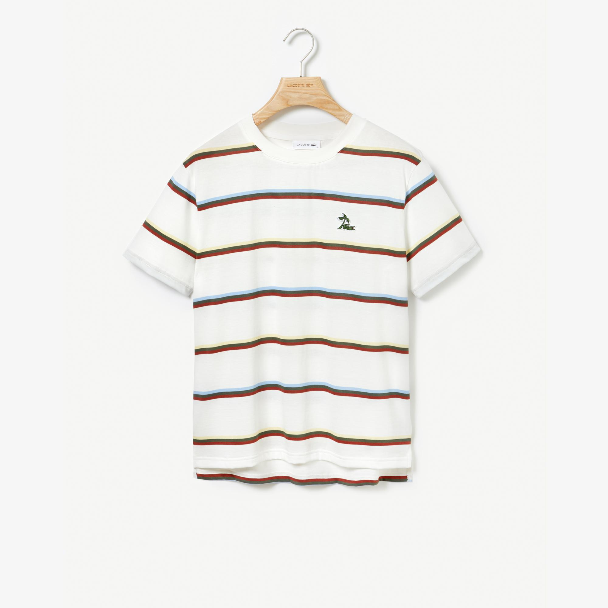 Lacoste Women's Wide Neck Striped Jersey T-Shirt