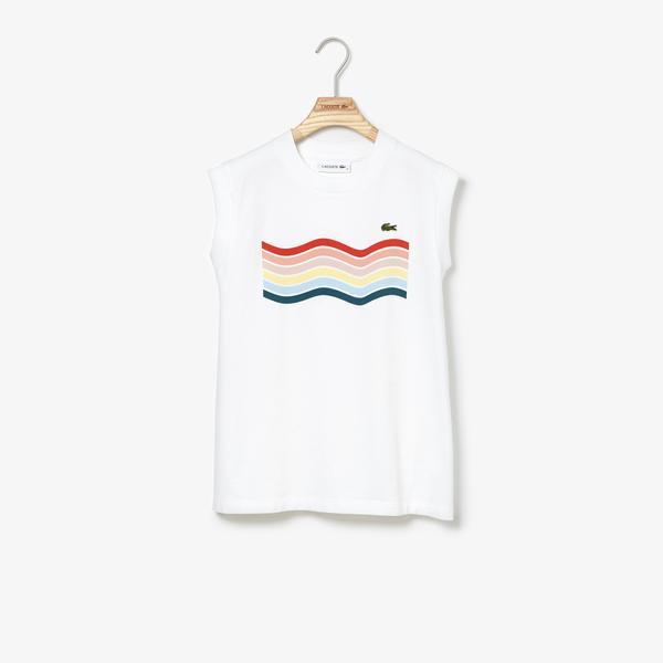 Lacoste Women's Waves Logo Cotton Tank Top