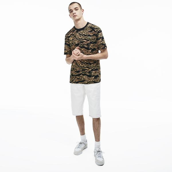 Lacoste L!VE Men's Crew Neck Cotton T-Shirt