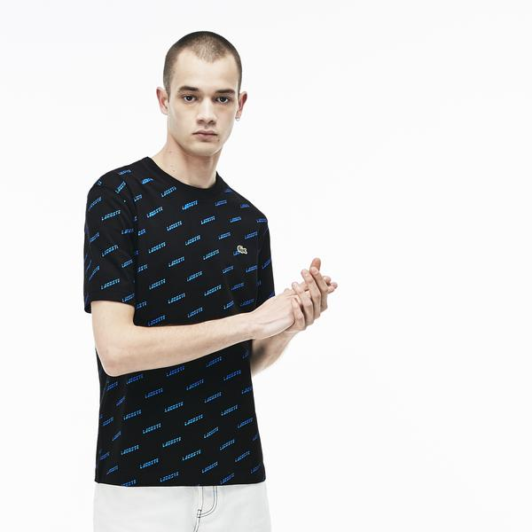 Lacoste L!VE Men's Crew Neck Cotton T-Shirts