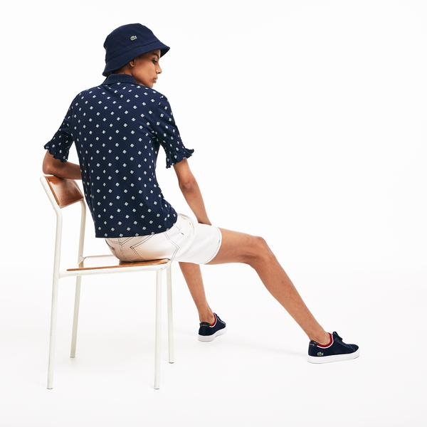 Lacoste L!VE Women's Slim Fit Print Polo