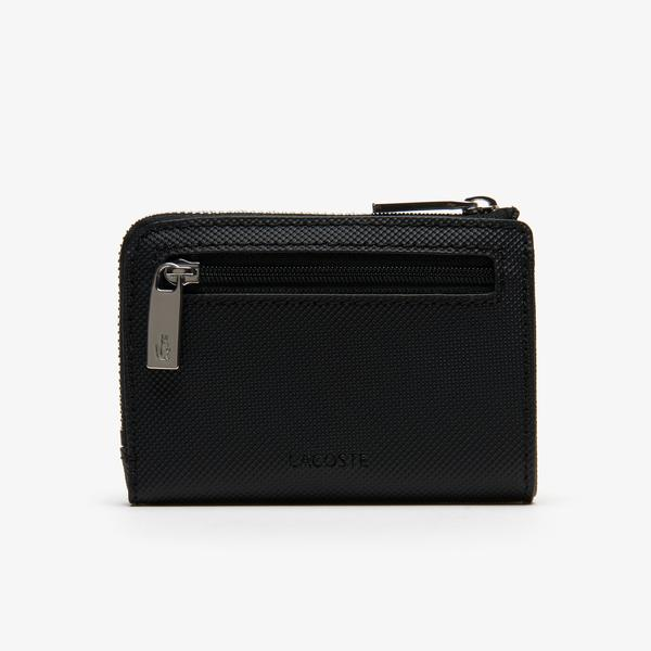Lacoste Men's Classic Petit Piqué Zip Card Holder