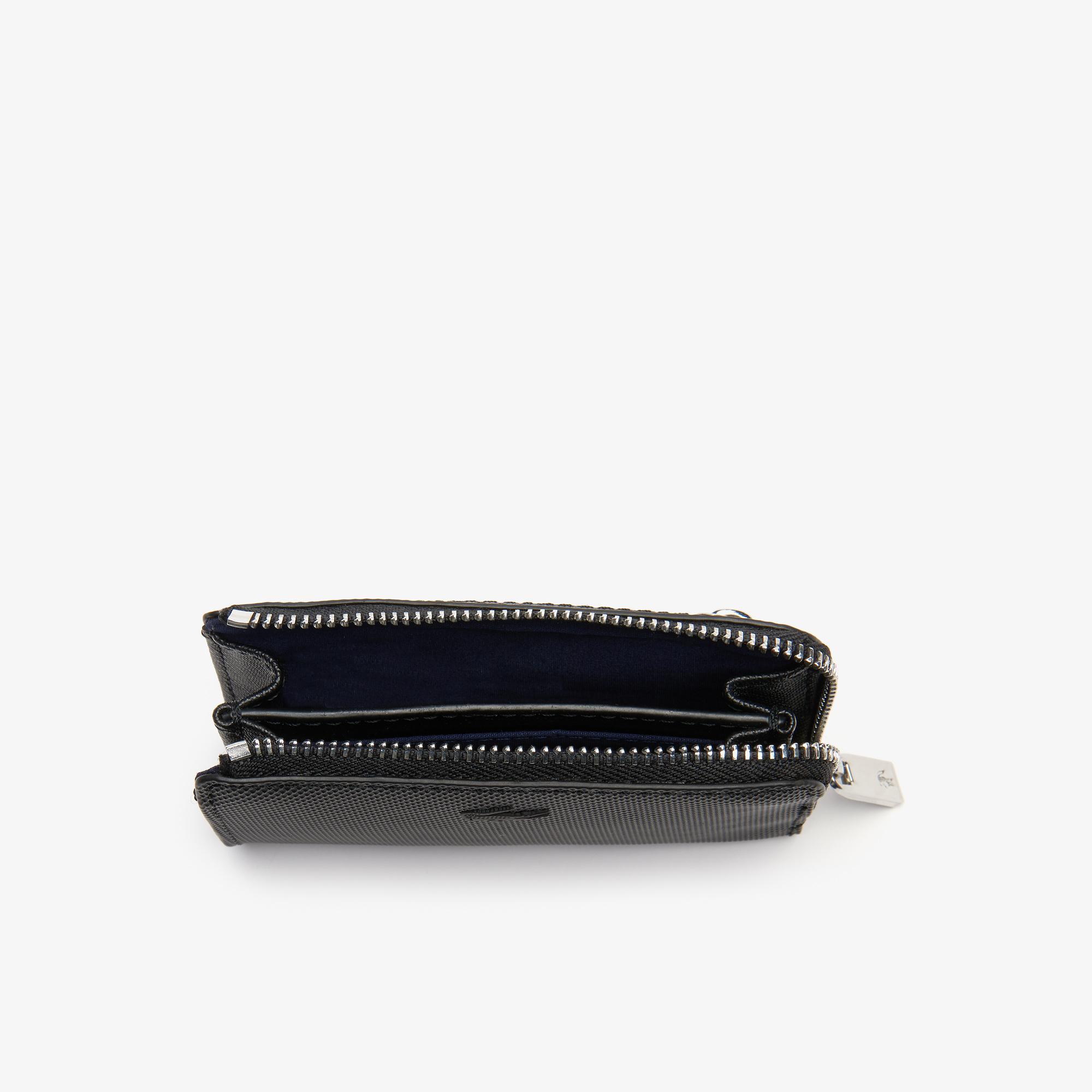 Lacoste Men's Classic Petit Piqué Zip Card Holder