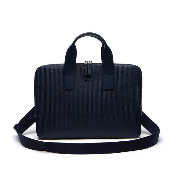 Lacoste Men's Chantaco Matte Leather Computer Bag