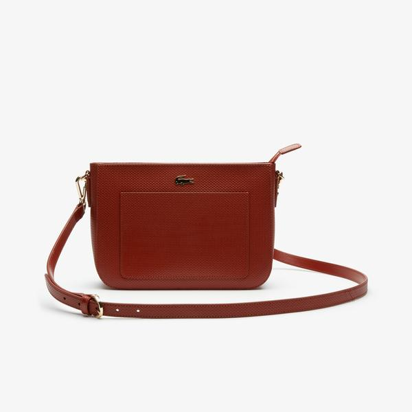 Lacoste Women's Chantaco Colourblock Piqué Leather Shoulder Bag