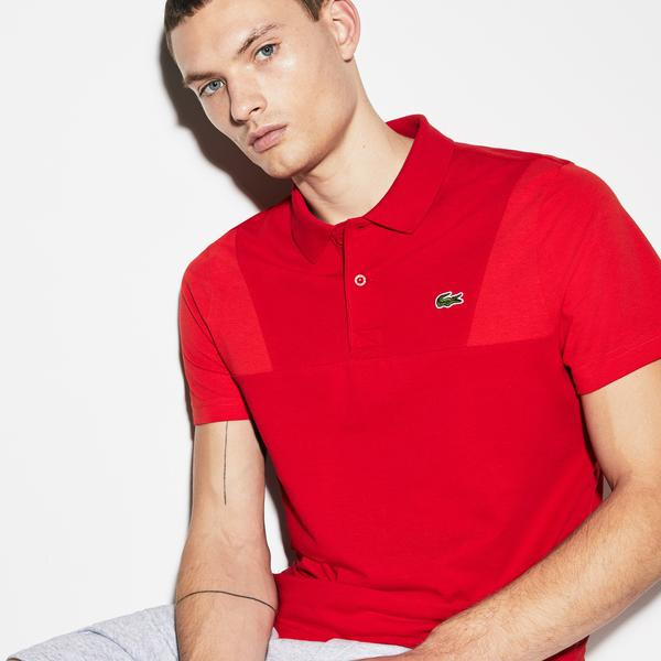 Lacoste Sport Men's Contrast Sleeve Ultra Light Cotton Polo