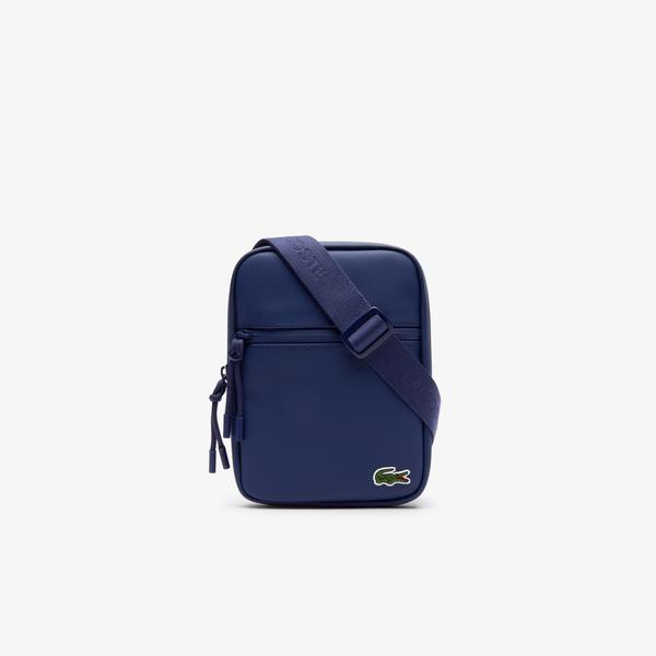 Lacoste Men's L.12.12 Concept Coated Petit Piqué Canvas Small Zip Bag