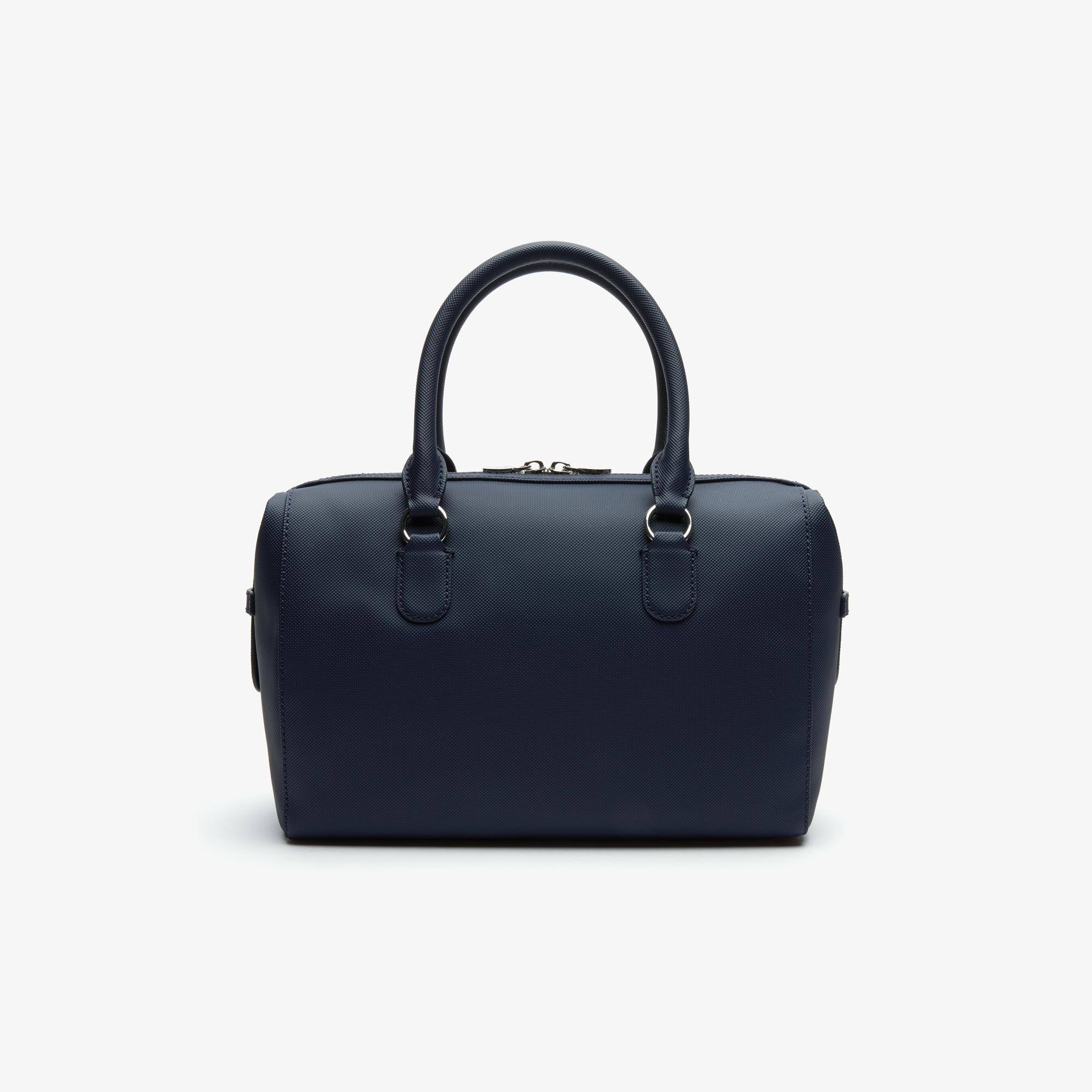 Lacoste Women's Daily Classic Coated Canvas Boston Bag