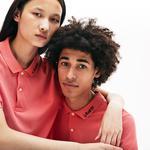 Lacoste L!VE Unisex Slim Fit Signature Embroidery Petit Piqué Polo