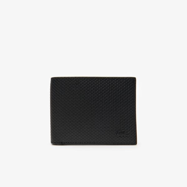 Lacoste Men's Chantaco Piqué Leather 3 Card Wallet