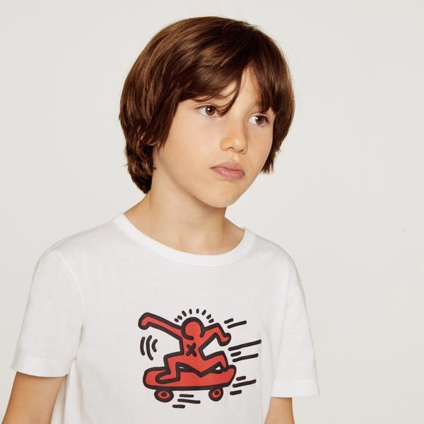 Lacoste X Keith Haring Print Boys' Crew Neck Jersey T-Shirt
