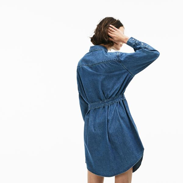 Lacoste L!VE Women's Denim Shirt Dress
