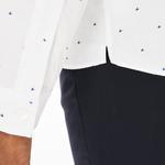 Lacoste Men's Slim Fit Print Cotton Poplin Shirt