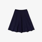 Lacoste Women's Knee-Length Knit Skater Skirt