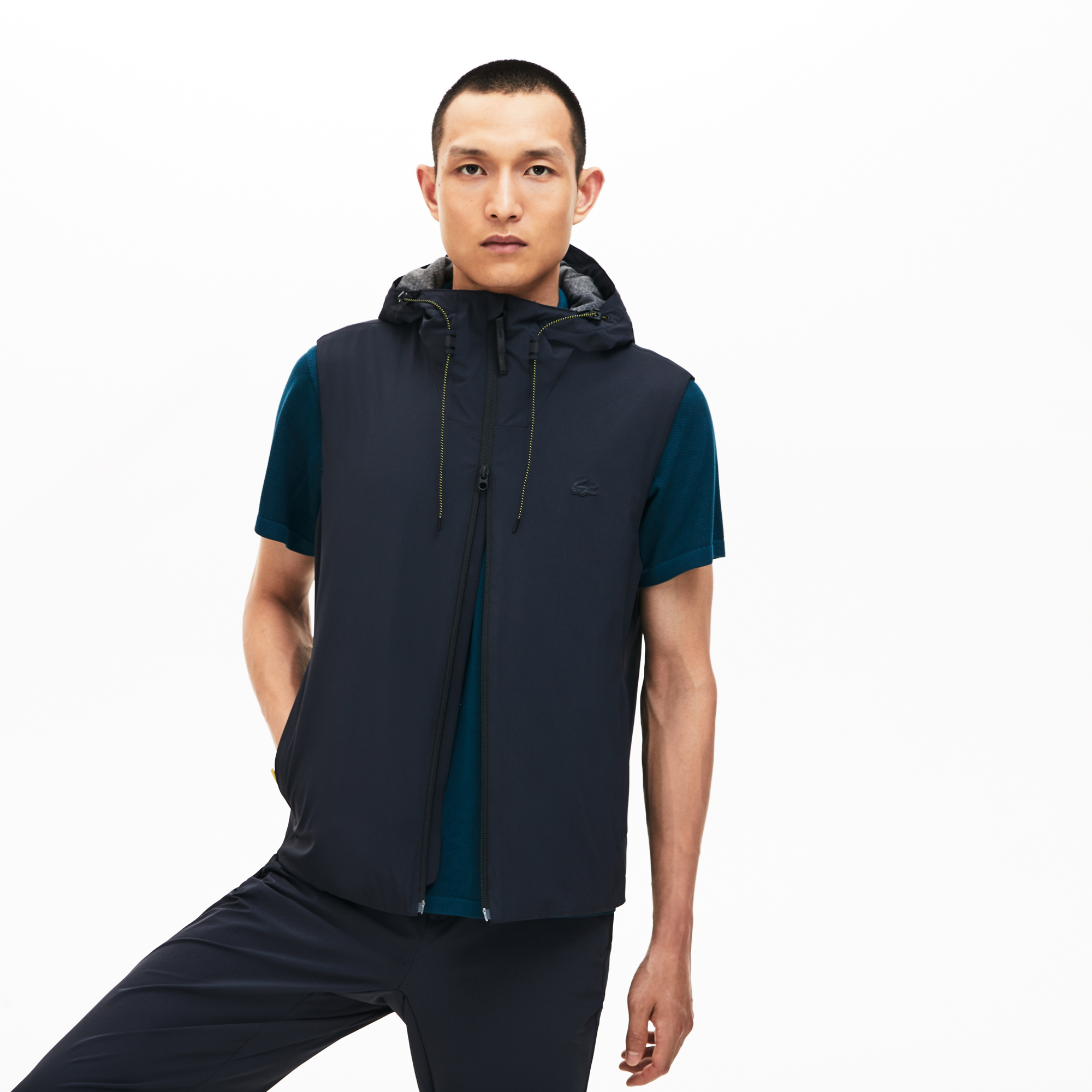Lacoste Men's Motion Lightweight 3-İn-1 Rain Jacket