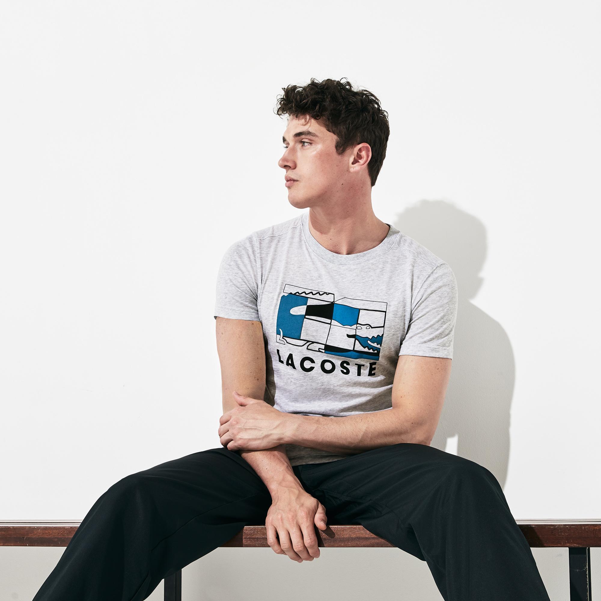 tani wielka wyprzedaż 100% autentyczny Lacoste Sport Men's Tennis Court Design Breathable T-Shirt