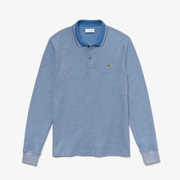 Lacoste Men's Regular Fit Heathered Piqué Polo