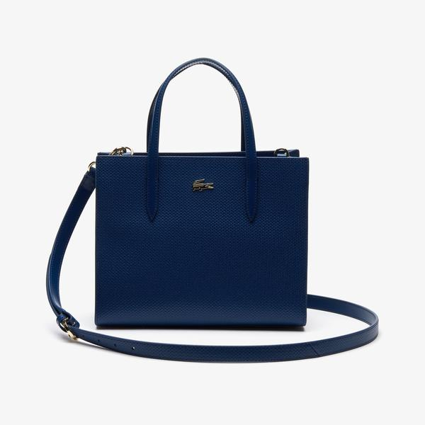 Lacoste Women's Chantaco Dual Carry Piqué Leather Zip Tote Bag